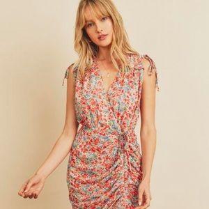 Floral Ruched Midi-Dress   Dress Forum   Size S